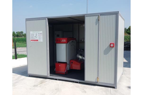 Centrali termiche pellet cippato legna container box for Container house prezzi