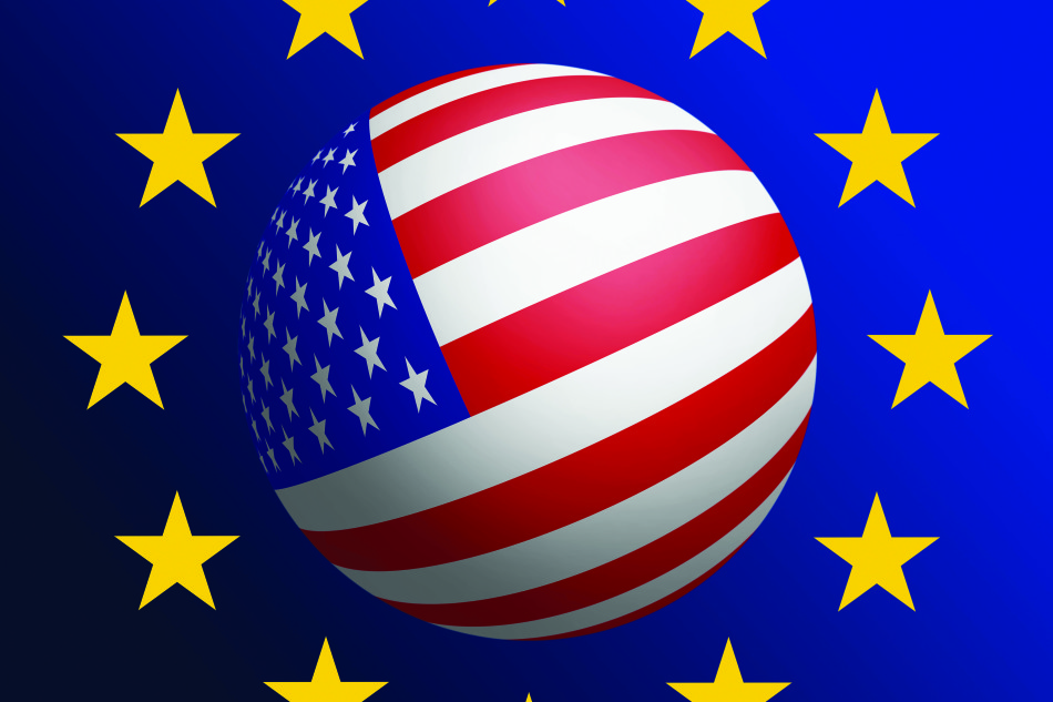 USA - EU cooperation. Raster graphics