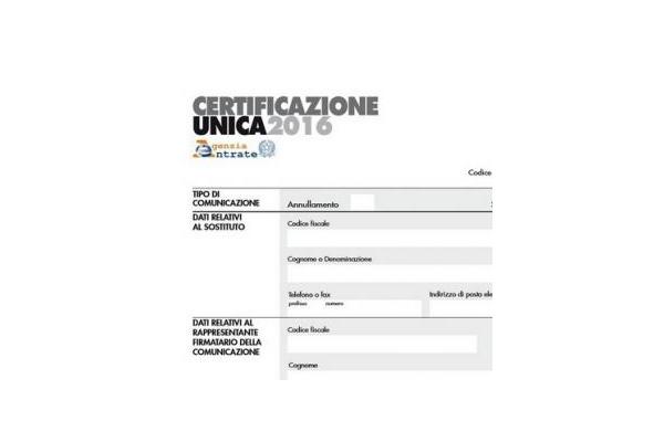 Certificazione unica 2016 approvati i modelli - Certificazione lavoro autonomo provvigioni e redditi diversi nel 730 ...