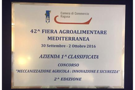 Premio innovazione Fiera Agroalimentare Mediterranea 2016
