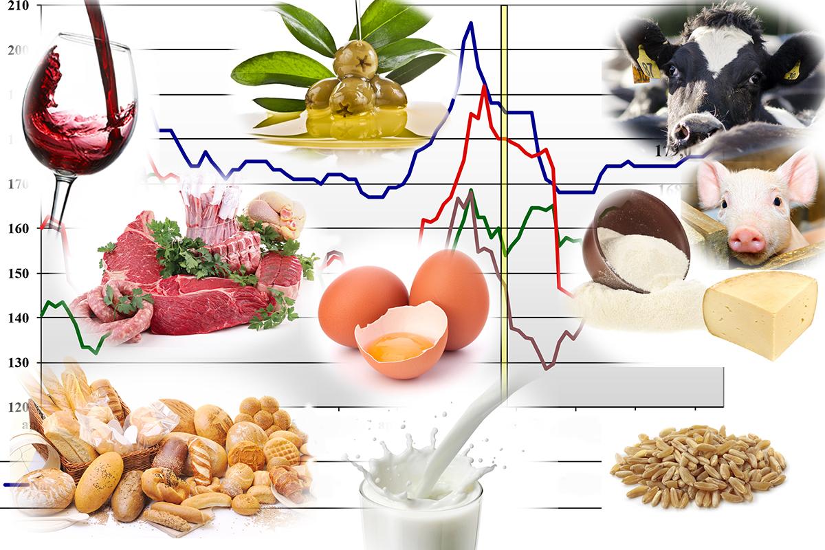 I prezzi dei prodotti agricoli di ismea per terra e vita for Prodotti per piscina prezzi