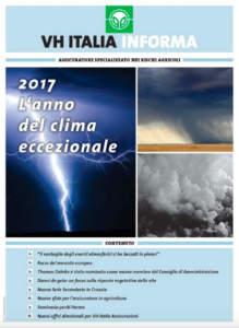 VH ITALIA – 2017 L'anno del clima eccezionale
