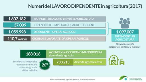 occupazione in agricoltura
