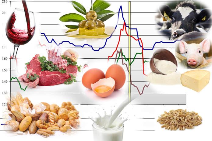 prezzi dei prodotti agricoli del 2 settembre 2019 secondo i dati Ismea