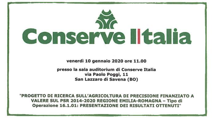 Conserve Italia organizza convegno su agricoltura di precisione