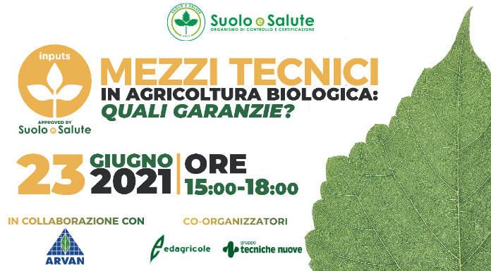 """Webinar """"Mezzi tecnici in agricoltura biologica: quali garanzie?"""""""